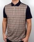 Aquascutum Dillon Club Check Polo Shirt Navy/Vicuna