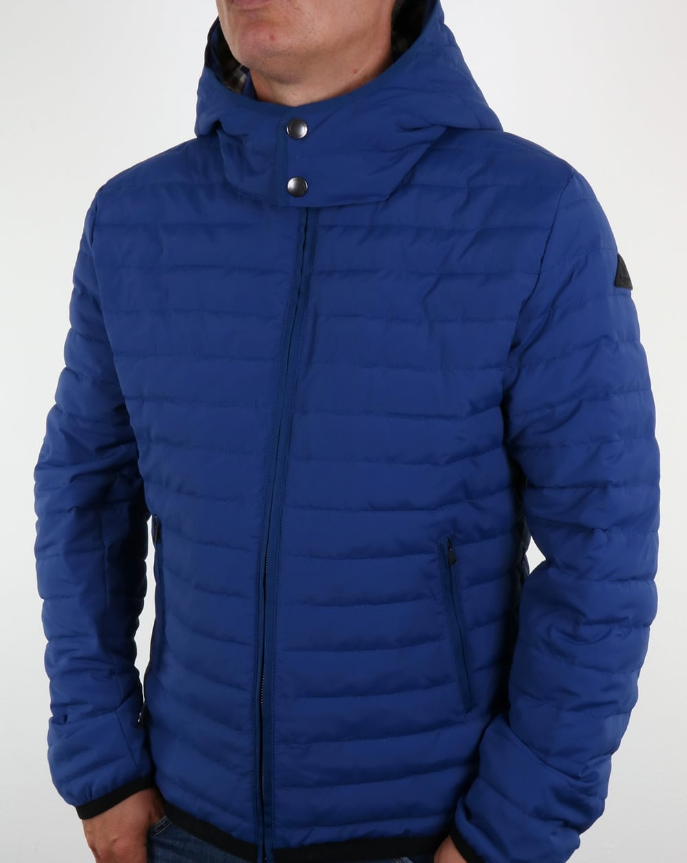 Aquascutum Emmett Quilted Jacket Bright Blue Padded Coat