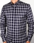 Aquascutum Emsworth Check Shirt Navy