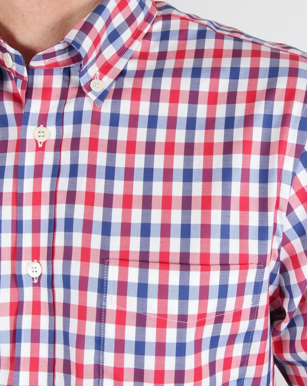 a24027a8c3d Aquascutum Emsworth Check Shirt Red White Navy