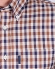 Aquascutum Emsworth Check Shirt Vicuna