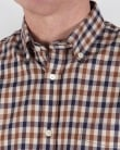 Aquascutum Emsworth Check Short Sleeve Shirt Vicuna