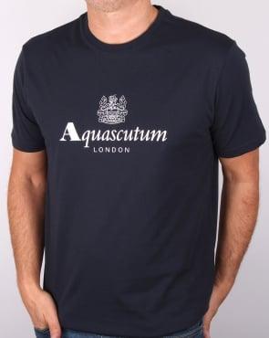 Aquascutum Griffin T Shirt Navy