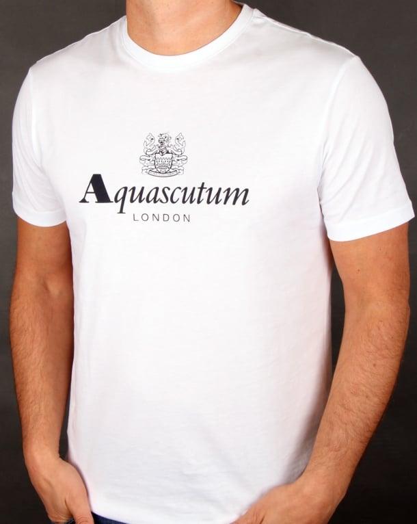 Aquascutum Griffin T Shirt White