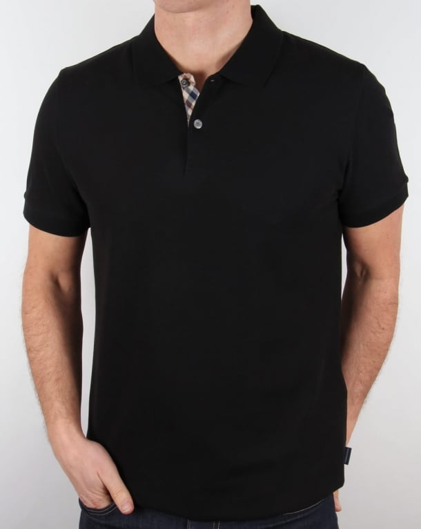 Aquascutum Hector Polo Shirt Black