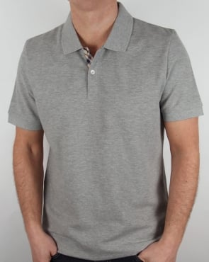 Aquascutum Hector Polo Shirt Grey Marl