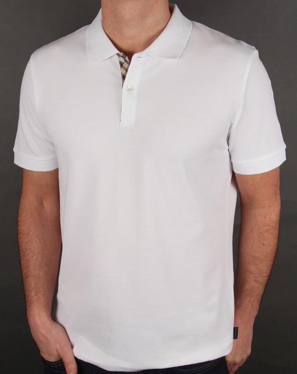 Aquascutum Hector Polo Shirt White