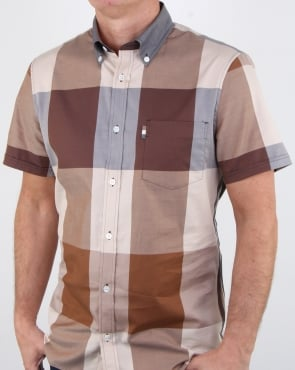 Aquascutum Henlake Giant Club Check Ss Shirt Vicuna