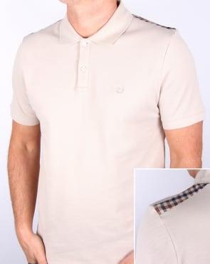 Aquascutum Hill Pique Polo Shirt Beige