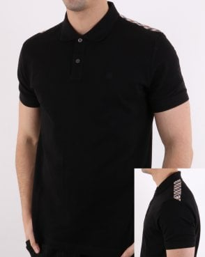 Aquascutum Hill Pique Polo Shirt Black