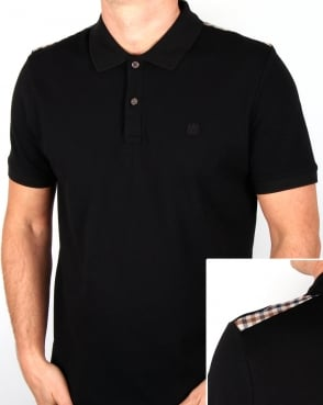 Aquascutum Hill Polo Shirt Black
