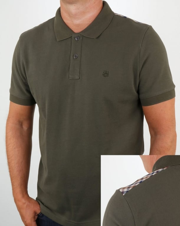 Aquascutum Hill Polo Shirt Military Green