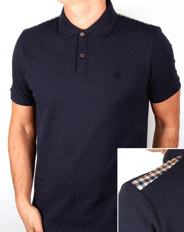 Aquascutum Hill Polo Shirt Navy