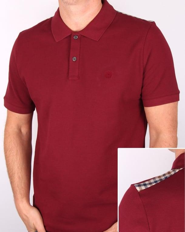 Aquascutum Hill Polo Shirt Oxblood