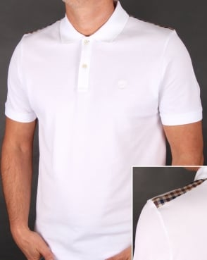 Aquascutum Hill Polo Shirt White