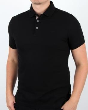 Aquascutum Hillington Polo Shirt Black