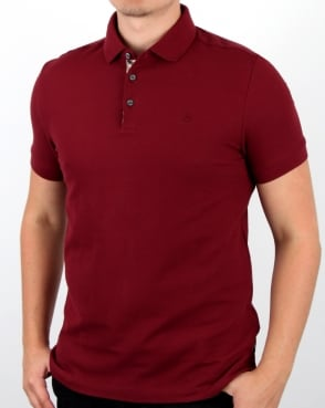 Aquascutum Hillington Ss Polo Shirt Bordeaux