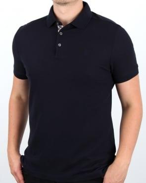 Aquascutum Hillington Ss Polo Shirt Navy