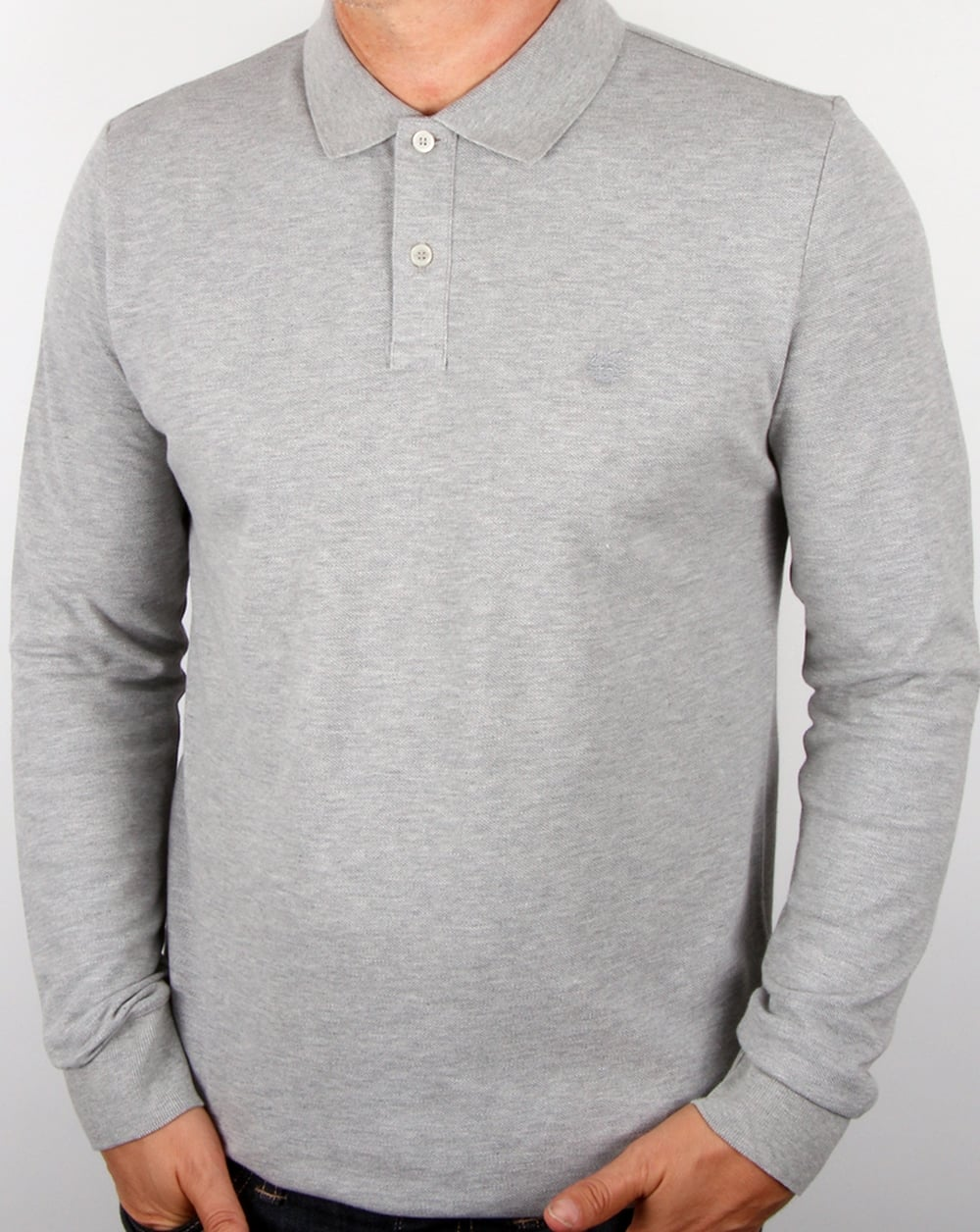 d219dbf9eca7 Aquascutum Hilton Long Sleeve Polo Shirt Grey,top,mens,cotton