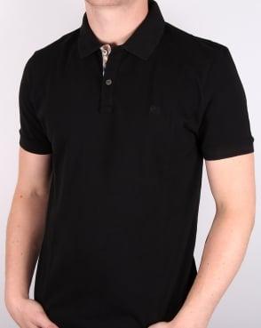 Aquascutum Hilton Polo Shirt Black