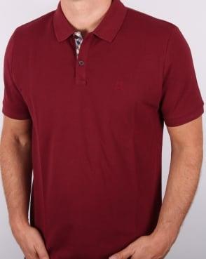 Aquascutum Hilton Polo Shirt Oxblood