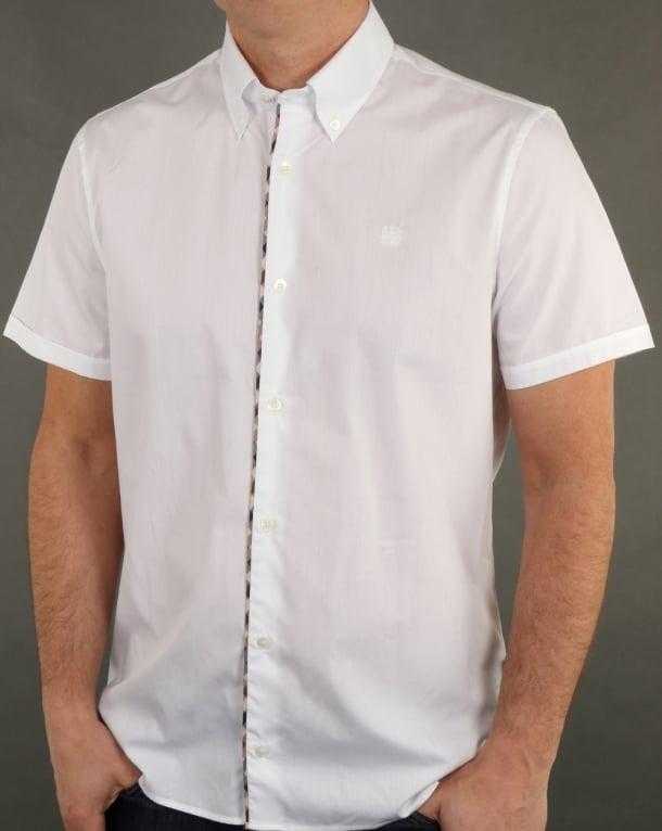 Aquascutum Kedge Check Trim Shirt White