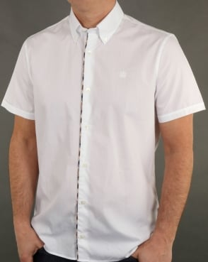 Aquascutum Kedge Check Trim Shirt White