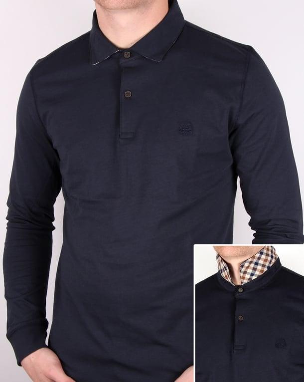 Aquascutum Kendrick Jersey Polo Shirt Navy