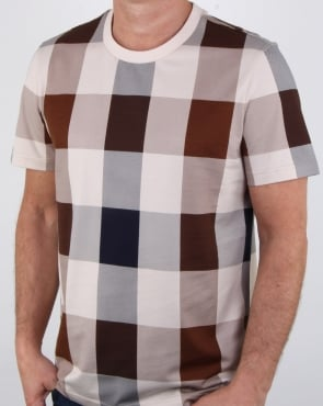 Aquascutum Kenneth Large Club Check T Shirt Vicuna