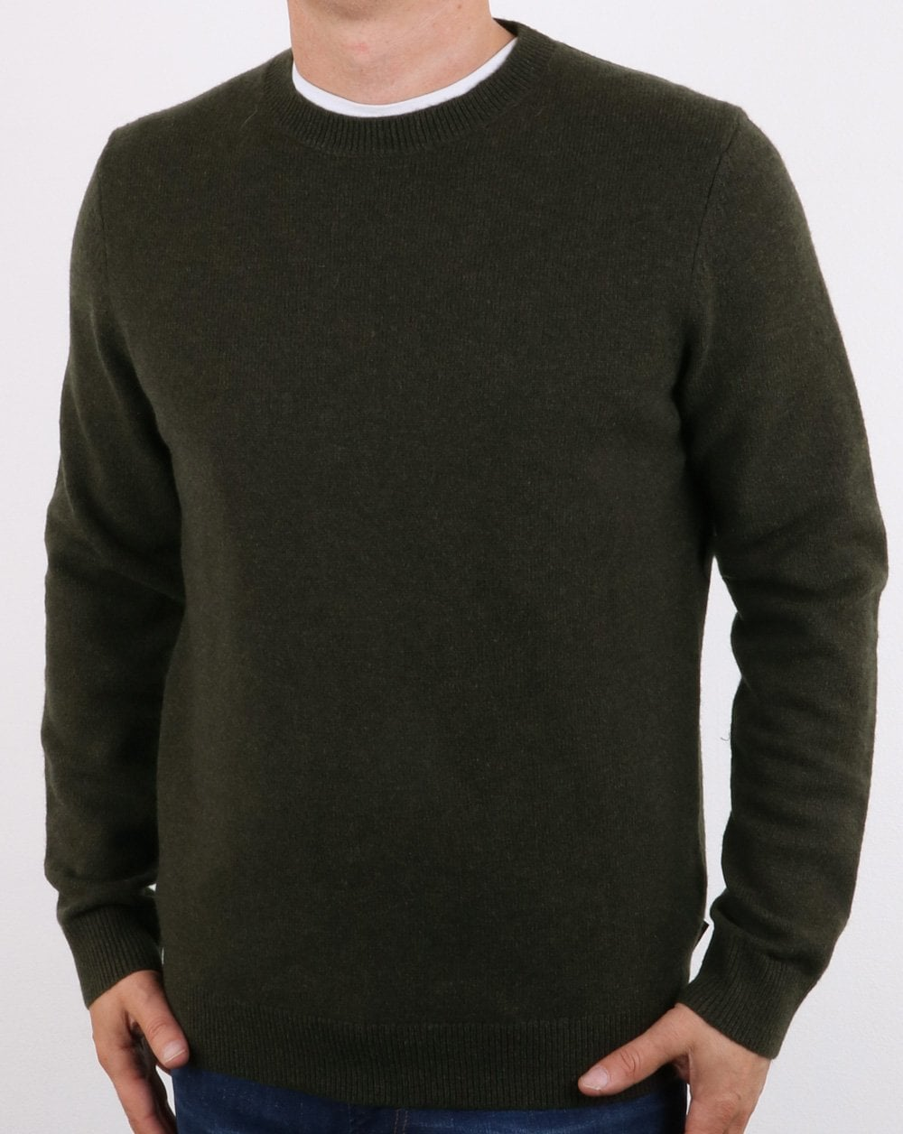 84b3afe92cb Aquascutum Lance Lambswool Jumper Military Green