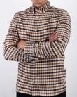 Aquascutum Magee Flannel Check Shirt Vicuna