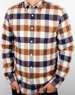 Aquascutum Marcus Check Shirt Vicuna