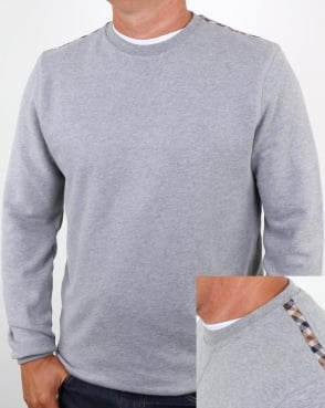 Aquascutum Oliver Crew Neck Sweat Grey