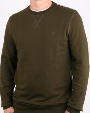 Aquascutum Oliver Crew Neck Sweat Military Green