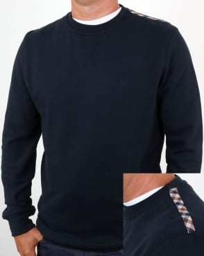 Aquascutum Oliver Crew Neck Sweat Navy
