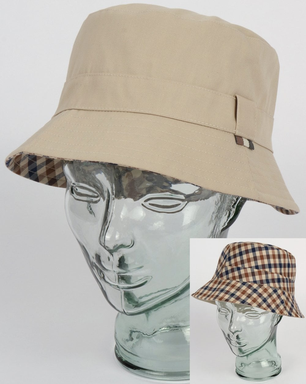 afbc9a5f034 Aquascutum Aquascutum Reversible Bucket Hat Light Beige
