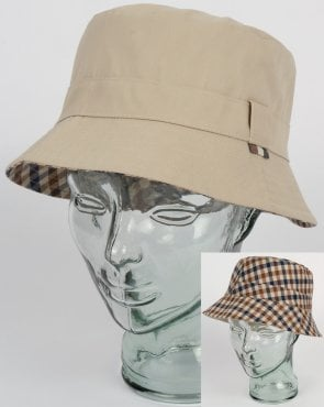 Aquascutum Reversible Bucket Hat Light Beige