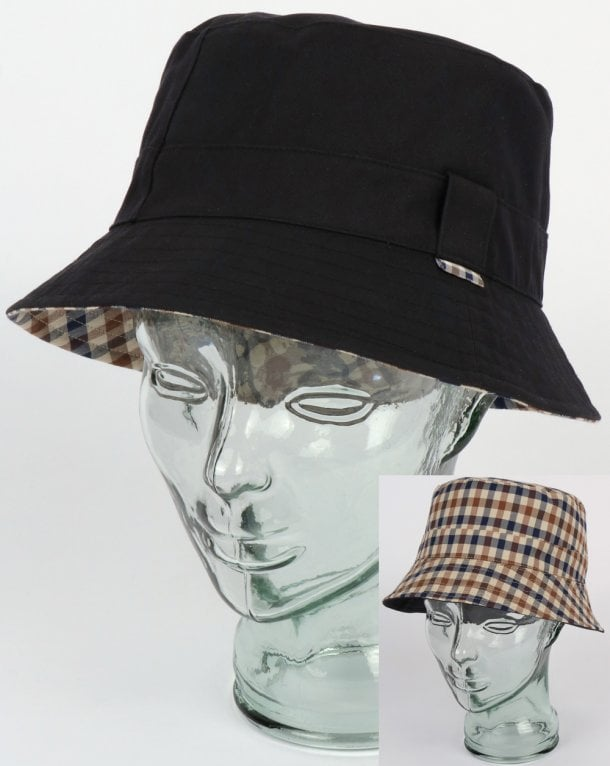 Aquascutum Reversible Bucket Hat Navy