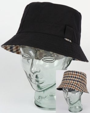 4311b678a68 Aquascutum Reversible Bucket Hat Navy