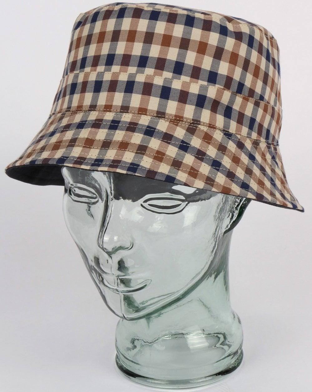 6a5204f9 Aquascutum Reversible Bucket Hat Navy | 80s casual classics