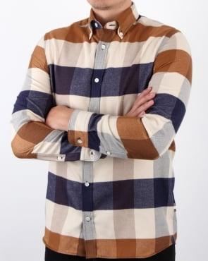 Aquascutum Rigby Flannel Check Shirt Vicuna