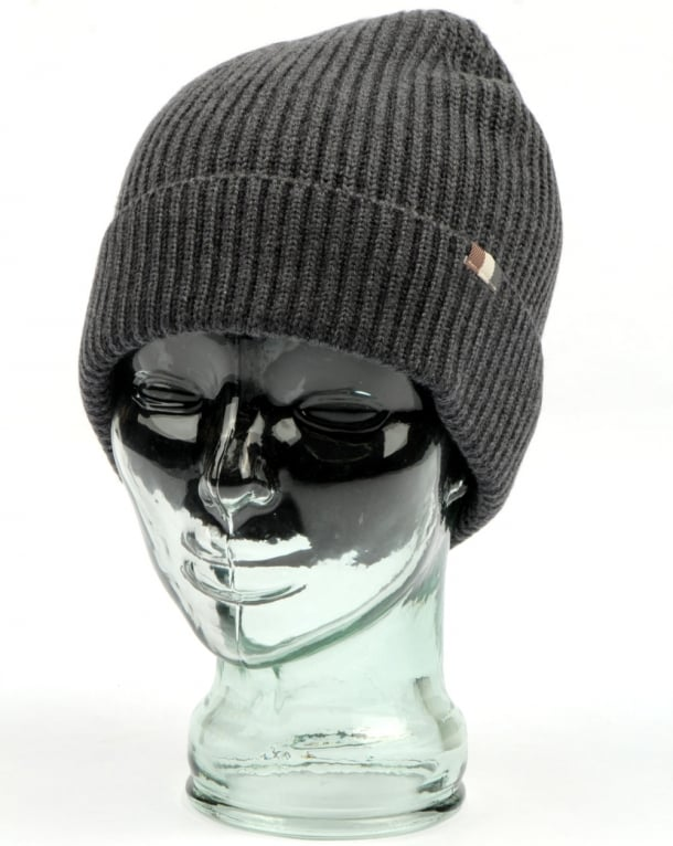 Aquascutum Rogue Beanie Hat Charcoal Melange