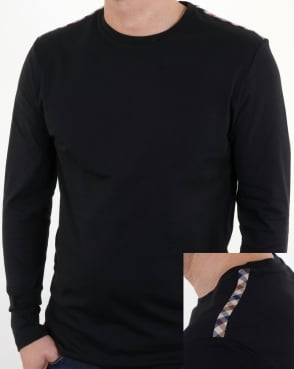 Aquascutum Southport Long Sleeve T Shirt Black