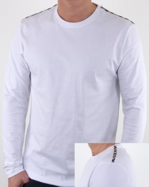 Aquascutum Southport Long Sleeve T Shirt White