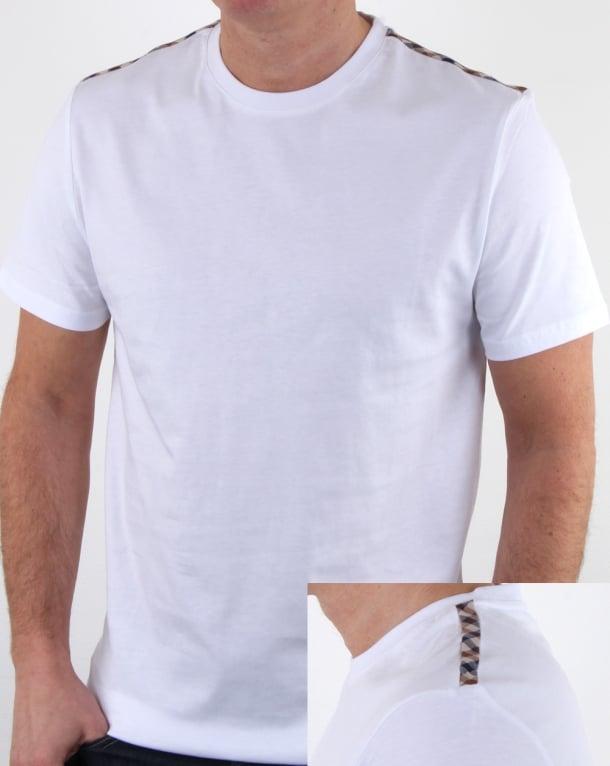 Aquascutum Southport T Shirt White