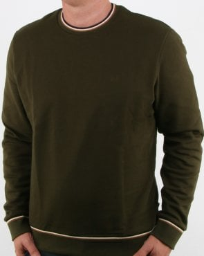 Aquascutum Wallace Long Sleeve Sweatshirt Military Green