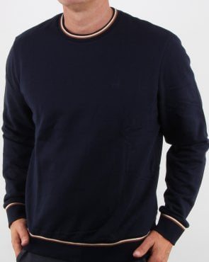 Aquascutum Wallace Long Sleeve Sweatshirt Navy