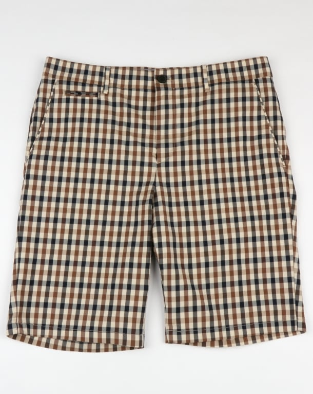 Aquascutum Winster Club Check Shorts Vicuna