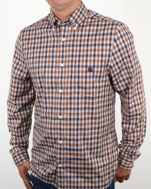 Aquascutum York Club Check Shirt Vicuna