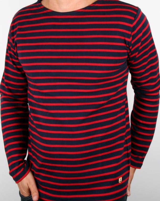 Armor Lux Armor-lux Classic Ls Breton T-shirt Navy/Dark Red